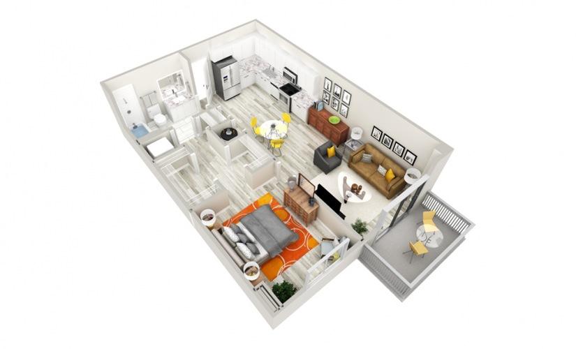 One Bedroom / One Bathroom